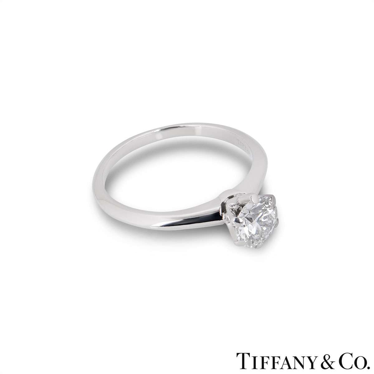 Tiffany & Co. Round Brilliant Cut Diamond Ring 1.02ct I/VS1